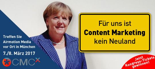Für Airmotion Media (und Angela Merkel) ist Content Marketing kein Neuland