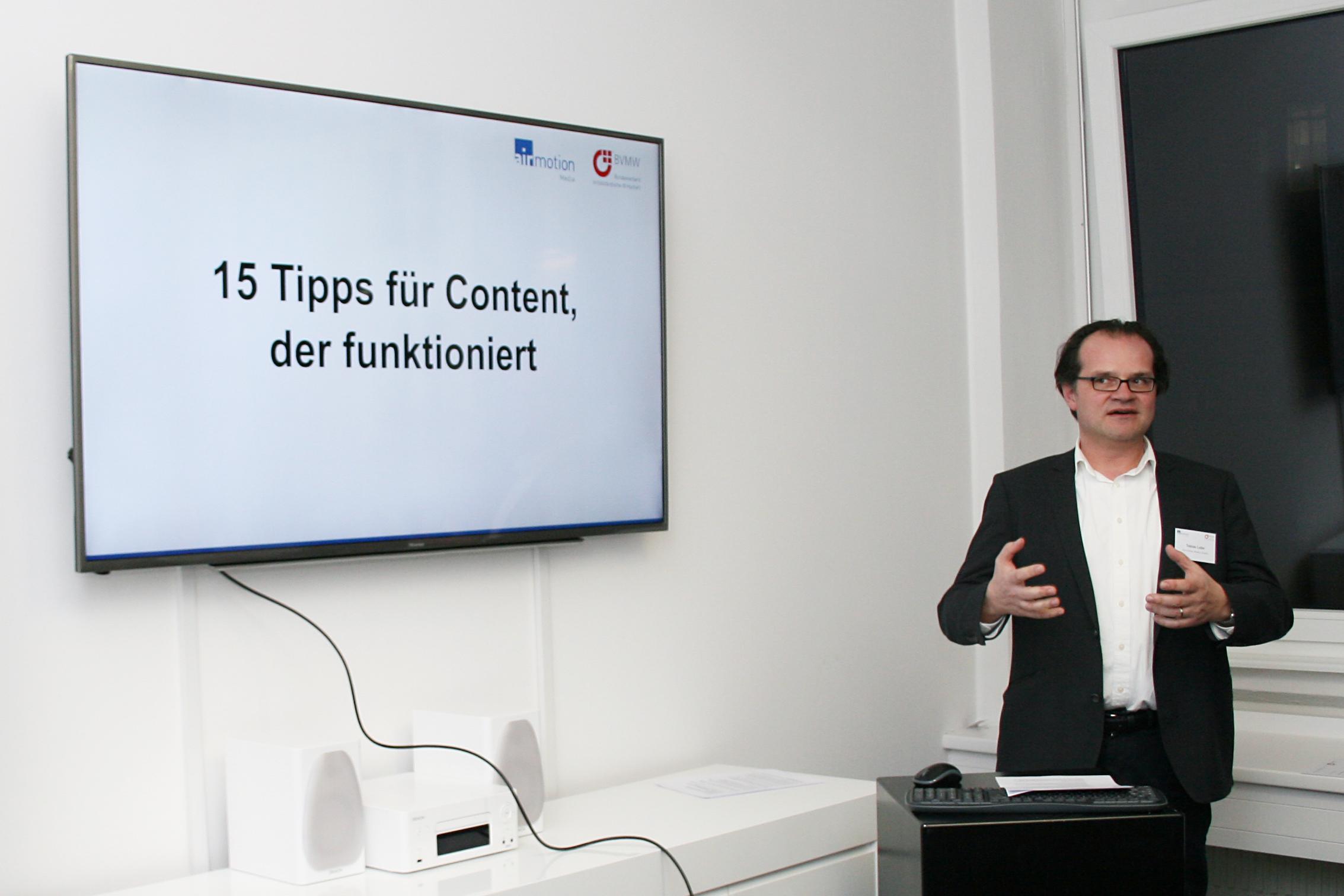 Tobias Lobe, Geschäftsführer von Airmotion Media, gibt Tipps für den Arbeitsalltag im Content Marketing