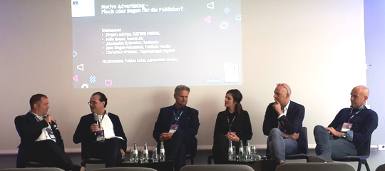 Panel Native Advertising Medientage München 2017: Alle Teilnehmer