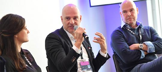 Panel Native Advertising Medientage München 2017: Julia Bauer, Jürgen Adrian, Jens Nagel-Palomino