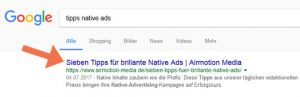 SEO-Tipps: Title im Google-Snippet