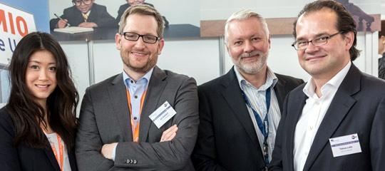 Bei der CMCX 2018 Airmotion Media treffen - Tobias Lobe, Arne Bogdon und Jan Kahlert (v.r.n.l.)