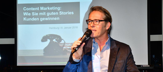 Speakers Night 2018 Hamburg - Moderator Hinnerk Baumgarten - Airmotion Media