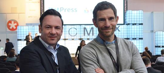 René Kühn und Main Speaker Micky Beisenherz bei der CMCX 2017
