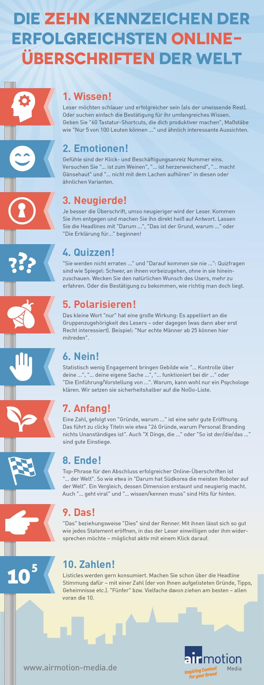Infografik für gute Überschriften