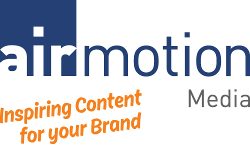 Logo Airmotion Media mit Claim