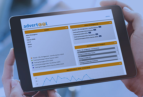 Advertool-Dashboard für Native-Advertising-Kampagnen