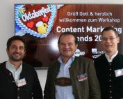 Die Referenten beim 6. Workshop & Wiesn – Airmotion Media
