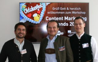 Die Referenten beim 6. Workshop & Wiesn – Airmotion Media