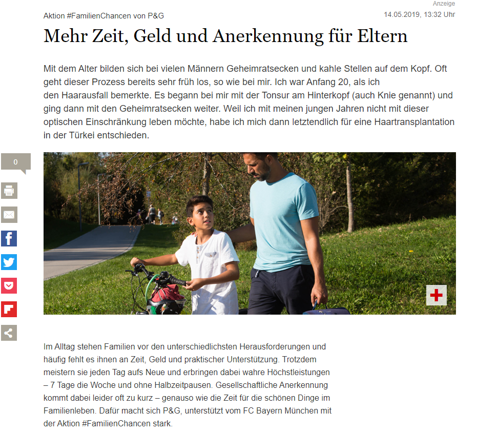 Screenshot Advertorial auf Tagesspiegel